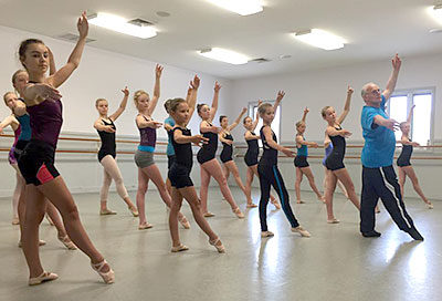 Ballet Master Class with Alphonse Poulin at KDC