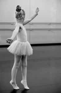 Black & White Ballet Photo of Little Girl